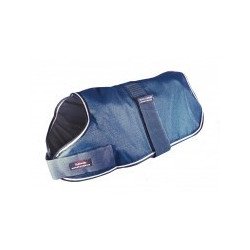 "Breathable Dog Coat  14"" BLUE"