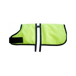 "Breathable Dog Coat  14"" FLO YELLOW"