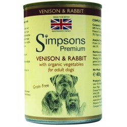 SIMPSONS  VENISON & RABBIT 400g