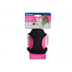 ANCOL CAT HARNESS MED SOFT BLACK