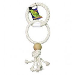 Boredom Breaker Parrot Rope Rings