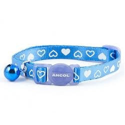 Ancol Cat Collar BLUE Heart