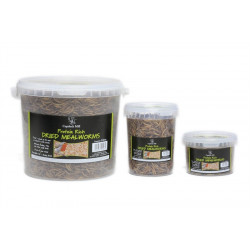 DRIED MEALWORMS NATURES FEAST 1 Kg